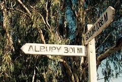 Sign post - 301 Miles to Albury (genloz) Tags: signpost albury goolwa echuca redgums