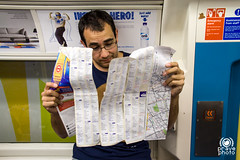 Map after four days of tour (andrea.prave) Tags: uk portrait england london metro map watch tube tourist londres cartina londra metropolitana undergound inghilterra turista  guardare visitlondon     londonpass