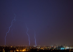 Three Strikes (Rackelh) Tags: night lighting storm dark skyline nature toronto ontario canada weather