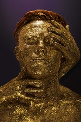Fame II (Katelin Kinney) Tags: red male beauty yellow glitter female hair gold ginger glamour hands shiny rich fame redhead sparkle