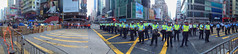 Day22-Protecting the open road-IMG_3098 (camera2m) Tags: street people panorama hongkong protest police demonstration kowloon mongkok hkg umbrellarevolution iphoneography occupycentral occupymongkok hongkongprotests