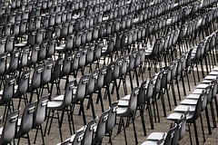 Waiting for the pope... (by_irma) Tags: italy pope rome chair waiting chairs row stoel paus wachten italië vaticancity rij stoelen sintpietersplein vaticaanstad