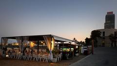 Barcelona, Spain (D-A-O) Tags: barcelona sunset beach bar restaurant spain mediterranean dusk bcn catalunya chiringuito portolympic nikond90