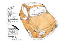 Sicile 2014, Syracuse (gerard michel) Tags: auto sketch italia fiat croquis