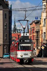 Tatra T4DC+T4DC+B4DC #1194 HAVAG Halle an der Saale (3x105Na) Tags: germany deutschland tram centrum halle strassenbahn tatra saale tramwaj hallesaale sachsenanhalt 1194 havag t4dc grosszug t4dct4dcb4dc