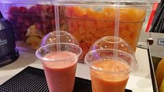 """#HummerCatering #Eventcatering #Adidas #Boostyourrun #Smoothie #Aktion. Frisch zubereitete Smoothies von unserer Smoothiebar im Dodenhof in Posthausen.  Smoothies 1: Karotte mit Mandarinen, Banane und Joghurt  Smoothie 2: tropische Früchte mit Erdbeeren, • <a style=""""font-size:0.8em;"""" href=""""http://www.flickr.com/photos/69233503@N08/15315748780/"""" target=""""_blank"""">View on Flickr</a>"""