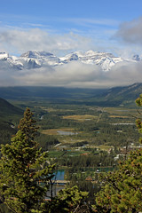 Mountains, Clouds, River, Lakes (JB by the Sea) Tags: canada rockies alberta banff rockymountains banffnationalpark tunnelmountain canadianrockies september2014