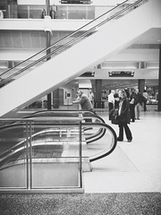 visions of you, then you're gone (Analogous Explorations) Tags: people blackandwhite bw airport strangers cvc mainterminal vsco iphone5s vscocam