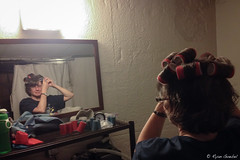 Mom (GlobalGoebel) Tags: hair mirror gettingready curlers