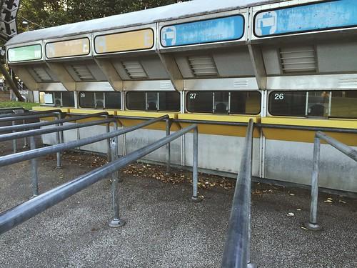 old kiosks at olympic park