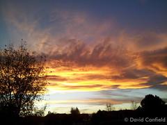 October 23, 2014 - An amazing sunset.  (David Canfield)