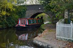 Wrenbury Mill boat (Lee1885) Tags: bridge water boat canal shropshire narrowboat llangollen bwb