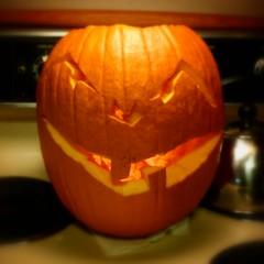 Happy Halloween from our kitchen to yours! (RufusZulu) Tags: halloween kitchen jackolantern evilface samsungsghi337 corelpaintshopproultimatex6