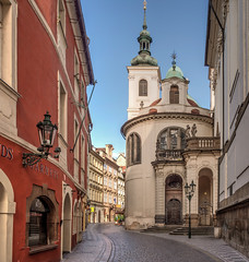 Vlasska Chapel in Karlova Street, Prague (Anguskirk) Tags: street city church europe prague earlymorning chapel czechrepublic czechoslovakia photomatix tonemapped oneexposure rivieratravel