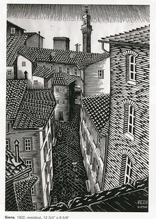 Escher - Tetti di siena