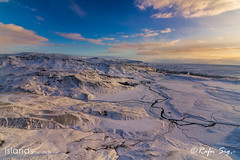 Snowy mountains on South Iceland