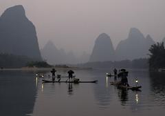 ab_SHS6048 (shamshahrin) Tags: china sunset people river landscape asian li fishing fisherman scenery asia photographer guilin culture lifestyle bamboo malaysia raft prc lijiang photojournalist imagemaker shamshahrin shamsudin
