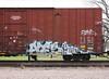 Ates (quiet-silence) Tags: railroad art train graffiti ns railcar boxcar graff kts freight ates norfolksouthern fr8 ns471170