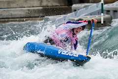Kimberley Woods (GBR) C1W (Chris Worrall) Tags: chris water sport river kayak canoe international c2 slalom leevalley watersport c1 k1 2014 britishopen bcu worrall chrisworrall theenglishcraftsman