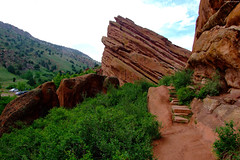 "Red Stone stairs at Red Rocks • <a style=""font-size:0.8em;"" href=""http://www.flickr.com/photos/34843984@N07/15541782471/"" target=""_blank"">View on Flickr</a>"