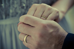 The rings we exchanged (@sage_solar) Tags: wedding woman man love gold lomo holding hands soft fingers marriage romance ring rings hold