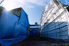 blue (Takeshi Nishio) Tags: uv nikonf100   ei100   16mmfisheye fujiprovia100frdpiii filmno801
