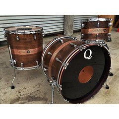 "Copper 22"", 13"", 16"" with detailed line work and patina. This set will be at The London Drum Show with a bunch of our snares. If you are able to make it, head over to @soundattakdrumco booth and checkout our drums! #qdrumco #copper #drums #soundattakUK #t"