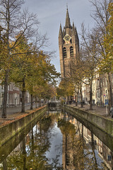 """Oude Kerk in Delft • <a style=""""font-size:0.8em;"""" href=""""http://www.flickr.com/photos/45090765@N05/15548813027/"""" target=""""_blank"""">View on Flickr</a>"""