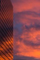 Brussels North Station - Burning Sky (Philippe Clabots (#PhilippeCPhoto)) Tags: city brussels building architecture skyscraper brugge bruxelles burningsky bluehour garedunord ville northstation heurebleue herdersbrug gdfsuez conseilentreprise