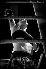 Wai Khru (Claudia Tualek Comaschi) Tags: italy woman white black sport female thailand pray thai devotion feeling boxing muay