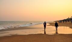 Golden Sunset. (mala singh) Tags: sunset sea india beach orissa gopalpur