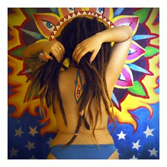 blessing (Rattle your goddamn head!) Tags: art alex dreadlocks nude grey freedom nikon mural flash psycho kit om psychedelic dreads rasta ohm aum d40 yongnuo 565ex