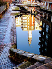 BIRMINGHAM AND FAZERLY CANAL (pajacksonartist) Tags: birmingham fazeley canal canals locks city water west midlands england reflection