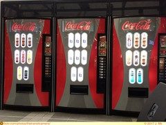 Coca-Cola Vending Machines (TheTransitCamera) Tags: cocacola beverage water soda fizzy drink vending machine station waiting area