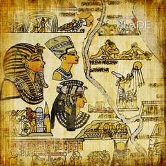egyptian parchment with map (shadowbilgisayar) Tags: red god old art man aged gold queen egypt decor retro woman color paper yellow symbol africa temple golden grunge natural papyrus culture history drawing writing texture arabian stripes pharaoh antique ancient vintage document ornament egyptian painting religion artistic textured scrapbook parchment decoration historical manuscript background conceptual traditional hieroglyphics map ukraine