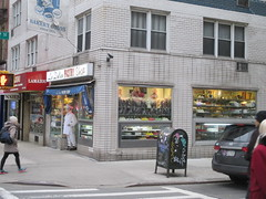 La Delice Pastry Shop - Easter Candy - Chef Mannequin 3186 (Brechtbug) Tags: la delice pastry shop candy store chocolate specific 3rd avenue 27th street kips bay new york city 03302017 nyc mystery magic chef outside mannequin superchef comicbook super hero comic book comics standee halloween stand up stores popup bake bakery easter entrance pop n fresh mannequins dummy wax sculpture standees butler domestic hat uniform 2017 mysterious
