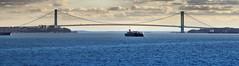 Nee York Bay (Sergei Zinovjev) Tags: ship shipping water sea gate bridge view newyork usa us america american still bay verrazanonarrows pentax pentaxk5 pentaxlife flickrcentral travelphotography