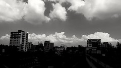 Cloudscape (FC Pavel) Tags: cloud cloudscape buildings landscape black white bw s6e samsung galaxy fc bd kushtia bangladesh town city