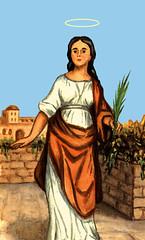 Saint Demetria Virgin Martyr (CathSaintsBlesseds) Tags: demetria demitria saint santa virgin martyr rome bibiana sister santi santos catolicos catholic early christian persecution patroness patron demi