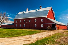Smith Farm 1 (Thomas DeHoff) Tags: red barn iowa farm blue sky sony a700