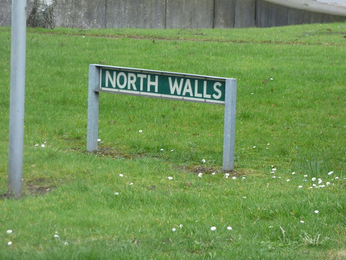 North Walls, Stafford - road sign
