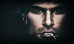 Smoke (Jos Loll) Tags: smoke cigarette weatherworn portrait close up