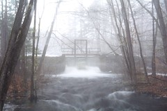 2017_0412Bickford-Pond-Dam0001 (maineman152 (Lou)) Tags: bickfordponddam water highwater flowing flowingwater fog foggy rain rainyday rainyweather nature naturephoto naturephotography landscape landscapephoto landscapephotography longexposure longexposurephoto longexposurephotography springwater springbrook springrunoff spring april maine