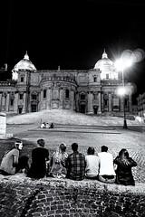 Santa MAria MAggiore Roma (pinomangione) Tags: pinomangione street roma biancoenero monocromo ragazzi persone chiesa monumento piazza