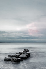Stepping stones (Mantere) Tags: bali indonesia sanur stone sea ocean long exposure landscape