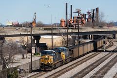 Black Diamonds (Albert (Rudy) R.) Tags: csx csxt coal train trains railfan railfanning birmingham n041 23 alabama al buff nikon hopper es44ah ac4400cw ac44cw ge locomotive locomotives