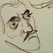 DELACROIX Eugène - Têtes, Etudes d'après la Gravure de L'Autoportrait du Titien (drawing, dessin, disegno-Louvre RF10612) - Detail 37