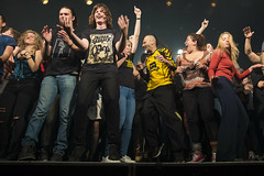 Amsterdam, The Netherlands  -16 April 2017: concert of Bosnian rock music band Dubioza Kolektiv at venue Melkweg -51 (CloudMineAmsterdam) Tags: dubiozakolektivmelkwegamsterdam amsterdam artists band concert concertlights crowd editorial electricguitar entertainment europe event gathering rock dub leisure lights loud music musician netherlands holland party people performance show singer vocals cheering audience happysmile fun hiphopreggae fan public