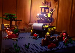 "Вибрационный ""Бобкэт-каток"" Кэтмена (Brick Geek) Tags: emmet catman building roller cat dc movie lego lights"