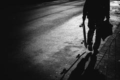 Heaven Is a Halfpipe (P. Zimmer) Tags: blackandwhite bw bnw black white schwarz weiss sw schwarzweiss noiretblanc monotone monochrome monochromatic people menschen urban stadt street streetphotography deutschland germany fuji xpro2 pattern light licht shadow schatten frankfurt skate inspiredbyasong skateboard explore